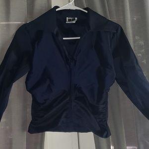 Tadashi Navy Blue Zippered 4P Top